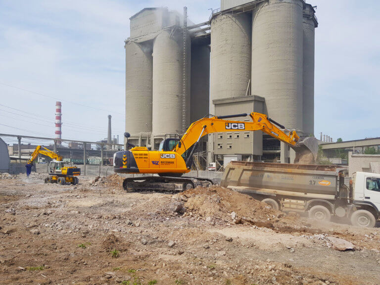 Cement production plant construction